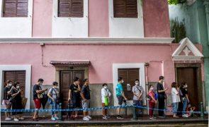Covid-19: Macau regista 67.º caso desde o início da pandemia durante testagem em massa