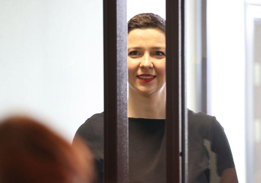 Opositora bielorrussa Maria Kolesnikova vence prémio Havel de Direitos Humanos