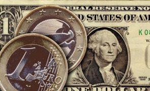 Euro caiu hoje face ao dólar pela quarta sessão consecutiva