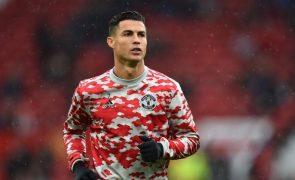 Ronaldo eleito jogador do mês por adeptos do Manchester United