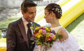 Amor Amor Penas e missangas! Os detalhes do vestido de noiva de Joana Santos no último episódio