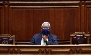 Costa quinta-feira no parlamento com discurso centrado na recuperação pós-pandemia