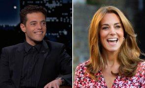 Rami Malek ofereceu-se para fazer babysitting aos filhos de Kate Middleton
