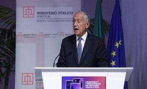 Marcelo defende que é preciso ir mais longe nas leis e nos meios contra a corrupção