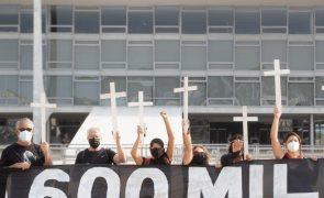 Covid-19: Brasil atinge 600 mil mortes com indicadores da pandemia em queda