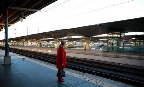 Greve na CP levou à supressão de três quartos das ligações ferroviárias