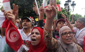 Mais de 5.000 manifestantes em Tunes para denunciar