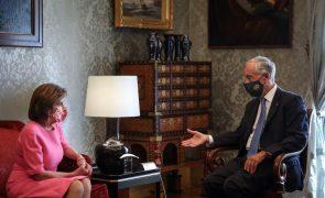 Marcelo falou sobre papel da NATO e relacionamento Europa-EUA com Nancy Pelosi