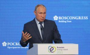 Putin diz que Rússia visa a neutralidade carbónica até 2060