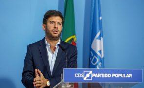 OE2022: Líder do CDS-PP confirma voto contra proposta do Governo