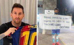Cristiano Ronaldo. Fã pede desculpa a Messi por se chamar... Cristiano
