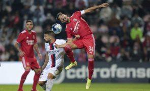 Benfica em grandes dificuldades bate o Trofense no prolongamento