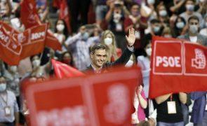 Órgãos federais do PSOE do PM espanhol Pedro Sánchez obtêm 94,94% de apoio