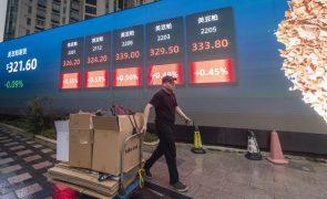 Bolsas europeias em baixa, com gigante chinês Evergrande a cair 10,5%