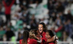 Portugal vence Sérvia na qualificação para Mundial de futebol feminino